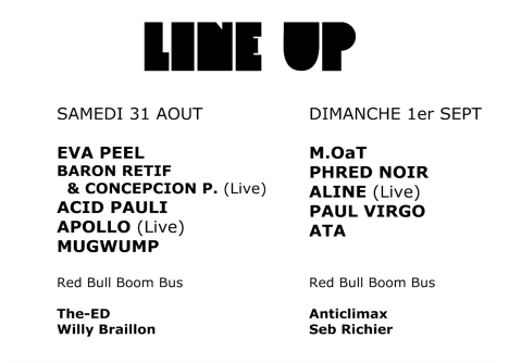 LINE-UP BORELY 2013